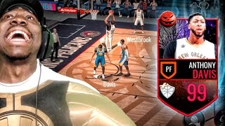 99 MASTER ANTHONY DAVIS CAN'T BE STOPPED! NBA Live Mobile 16 Gameplay Ep. 35