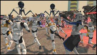 REALISTIC Clone Wars Christophsis Defense! - Men of War: Star Wars Mod Battle Simulator