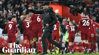 'Just perfect': Jürgen Klopp celebrates Liverpool's victory over Manchester United