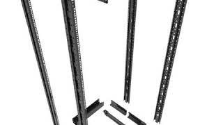 KLRack  600x Adjustable Depth (600-1000) 4-Post Open Frame Server Rack with wheels