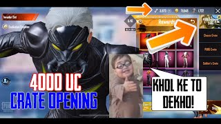4000 UC Crate Opening | for New Emote | Pubg Mobile