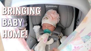 BRINGING NEWBORN BABY HOME FROM HOSPITAL!