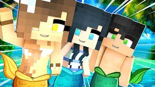 BECOMING A MINECRAFT BABY MERMAID!! | Minecraft Babies (Minecraft Roleplay)