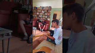 Weird kid singing with the Bass