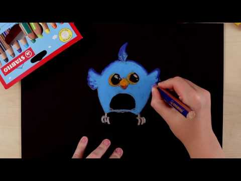 How to draw an owl (STABILO Tutorials, intermediate)