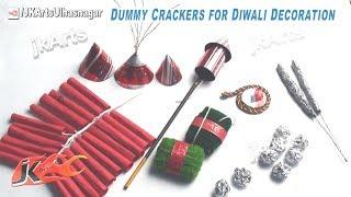 Dummy Crackers for Diwali Decoration | School Project for Diwali | JK Arts 417