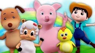 cinco pequenas farmees | pulando canções para crianças | Five Little Farmees | Farmees Português