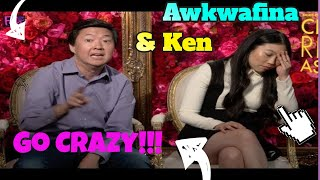 "Awkwafina & Ken Jeong Goes  CRAZY rapping!!!  ""Crazy Rich Asians"""