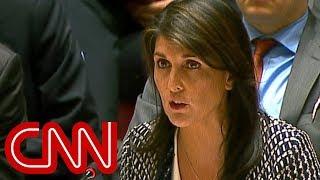 Nikki Haley slams Russia at UN Security Council meeting