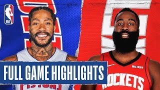 PISTONS at ROCKETS | FULL GAME HIGHLIGHTS | December 14, 2019