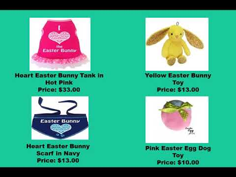 Shop Dog Products For Easter Celebration || Doggie Couture Shop