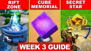 VISIT A RIFT ZONE, VISIT A MEMORIAL TO A CUBE IN THE DESERT OR BY A LAKE, SECRET BATTLE STAR WEEK 3
