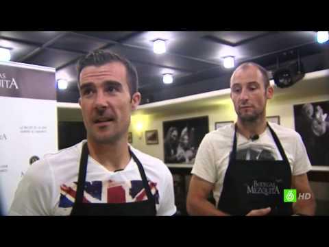 López Garai y Saizar prepararan un #SalmorejoBlanquiverde en Bodegas Mezquita (La Sexta Noticias)