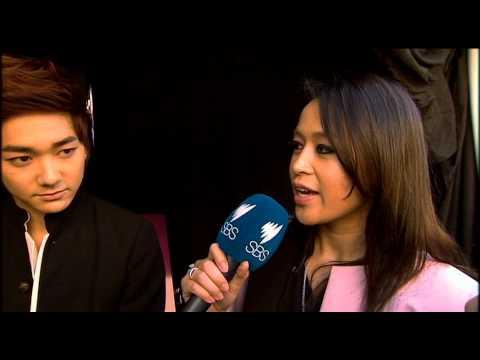Jamaica dela Cruz from SBS PopAsia interviews Kpop Group Nu'est in Sydney August 24th