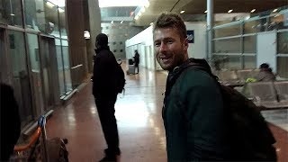 Glen Powell signing autographs in Paris