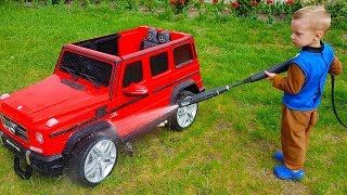 Funny Max washing car Ride on POWER WHEEL Red Car