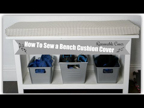 HOW TO SEW A BENCH CUSHION COVER | EASY DIY SEWING | Momma from scratch