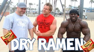 Dry Top Ramen Eating Challenge w/ Kali Muscle and Big J | Furious Pete