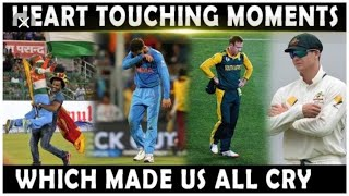 Top 10 most heart touching moments in cricket history ever || cricket emotional moments