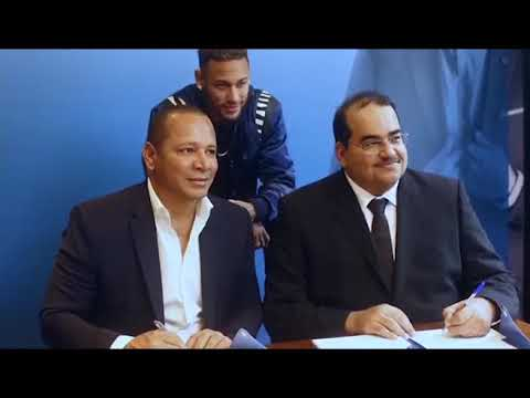 From left to right: Mr. Neymar Silva Santos, Owner of NR Sport & Marketing; Nemar Jr; Mr. Yousef Darwish, General Manager - QNB Group Communications
