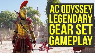 Assassin's Creed Odyssey Gameplay - LEGENDARY GEAR SET In Depth Look (AC Odyssey gameplay E3)