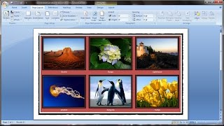 microsoft word tutorial how to insert images into word document table
