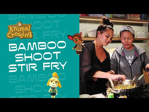 Animal Crossing-Inspired Bamboo Shoot Stir Fry