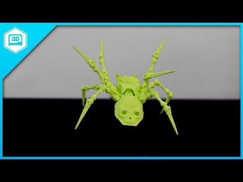 Articulated Spider Skull - 3D Printing Timelapse
