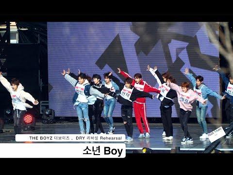 THE BOYZ 더보이즈[4K Rehearsal DRY 리허설 직캠]소년 Boy@180210 락뮤직