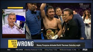 The Herd | Report: Manny Pacquiao defeated Keith Thurman Saturday night
