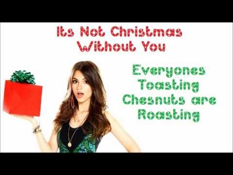 It's Not Christmas Without You - Victorious Cast Ft. Victoria Justice - FULL SONG with lyrics