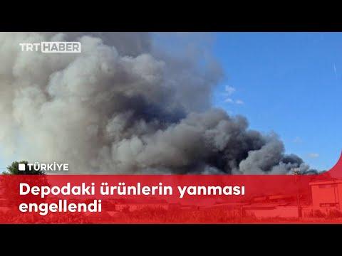Antalya'da depo yangını