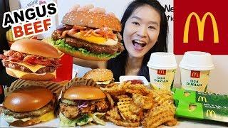 MCDONALD'S GOURMET BURGERS!! Rendang Angus Beef, Chilli Cheese & Buttermilk Crispy Chicken | Mukbang
