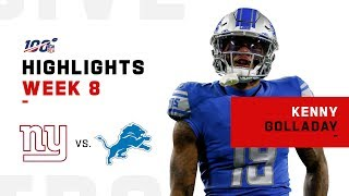 Kenny Golladay Steps Up for 123 Yds & 2 TDs | 2019 NFL Highlights