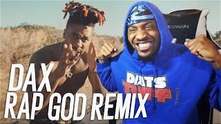 """Dax - Eminem """"Rap God"""" Remix  (REACTION!!!)"""