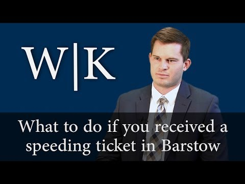 Speeding Ticket in Barstow (VC 2348 and VC 2349)