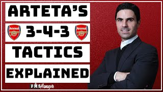 Arteta's Arsenal Tactics Explained | How Arteta Improved Arsenal | Mikel Arteta's 3-4-3 |