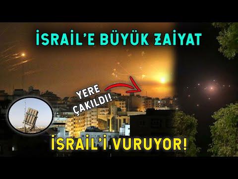 İsrail'e Füze Yağmuru! Hava Savunma Sistemi Çöktü
