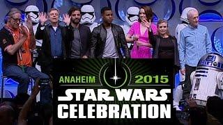 Star Wars The Force Awakens Celebration Panel - Oscar Isaac, Daisy Ridley, John Boyega, BB-8 Droid
