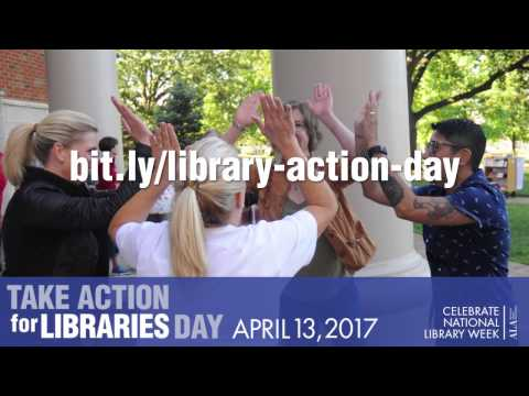 Take Action for Libraries Day Message from ALA President Julie Todaro