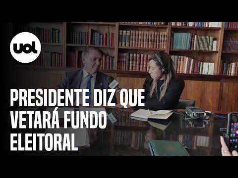 """Bolsonaro diz que vetará fundo eleitoral: """"Extrapolou o valor"""""""