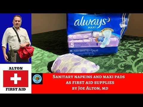 Maxi Pads: Medical First Aid Supplies in Emergencies