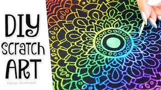 DIY SCRATCH-OFF ART - Phone Case, Mandala, & Card - How To // SoCraftastic
