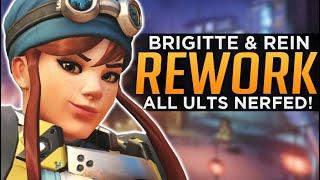 Overwatch: HUGE Brigitte Rework! - ALL Ultimates NERFED!