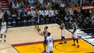 Zaza Pachulia Hits Overhead Trick Shot After Being Fouled | 01.23.17