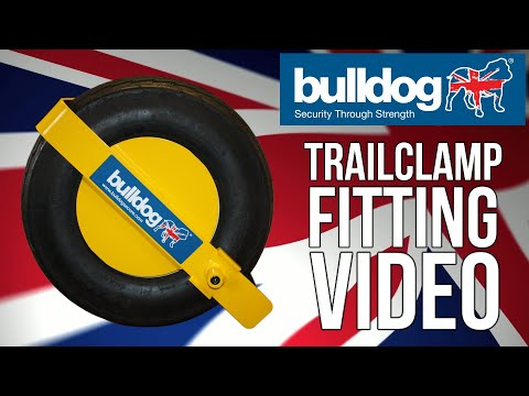 BULLDOG SECURITY TC355 TrailClamp Trailer Wheel Clamp - 195/55/ R10 (Eternity Tyres)