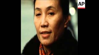 SYND 14-12-72 NGUYEN THI BINH DELIVERING STATEMENT TO PRESS AT VIETNAM PEACE TALKS IN PARIS