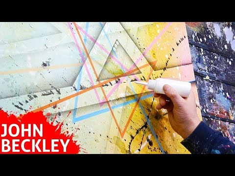 Satisfying Abstract Painting demonstration | Andromède