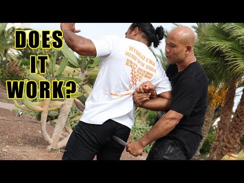 How to disarm a knife in your back!