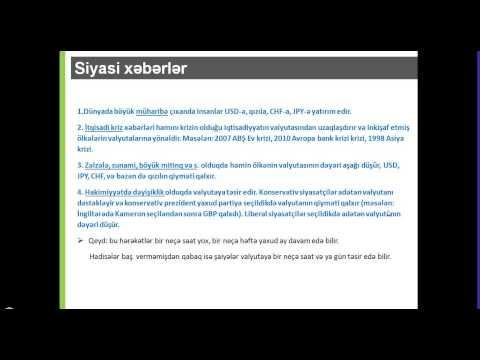 Onlayn Web Seminar - Foreksdə ən vacib iqtisadi göstəricilər hansılardır? / Şaiq Hüseynov 10/9/13